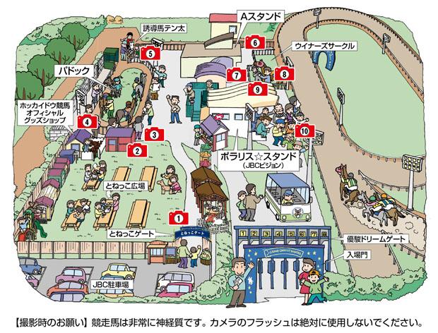 門別競馬場イラストマップ