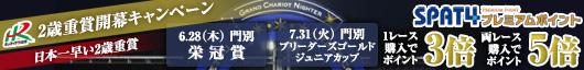6/28栄冠賞&7/31ブリーダーズゴールドジュニアカップ購入でポイント5倍!
