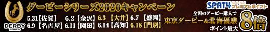 各地のダービー購入で東京ダービー&北海優駿はポイント最大8倍!