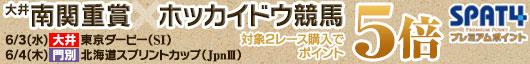 東京ダービー&北海道スプリントカップを購入でポイント5倍!